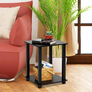 Furinno Simplistic Espresso End Table (2-Pack) by Furinno