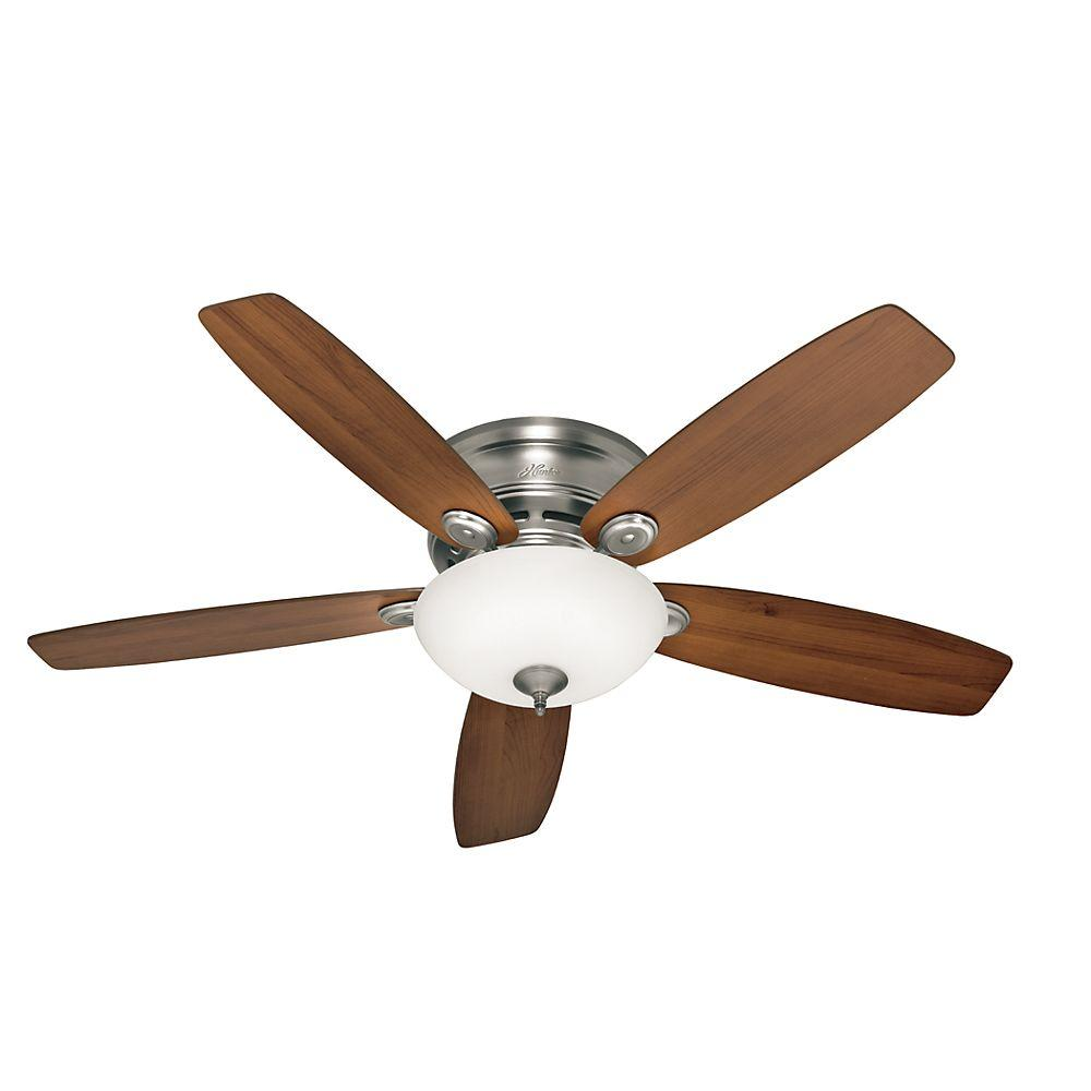 Old Ceiling Fans : Hunter low profile iv in led indoor antique pewter