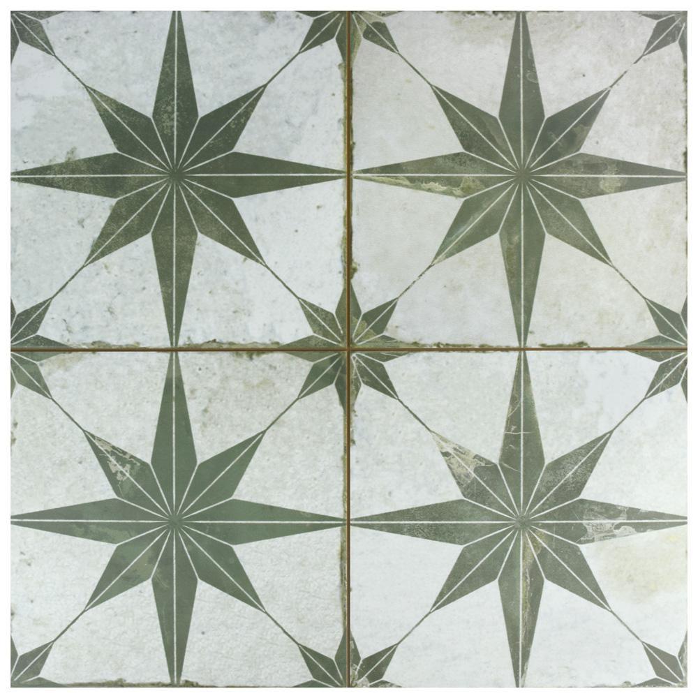 Merola Tile Kings Star Sage In X In Ceramic Floor - Ceramic tile star designs