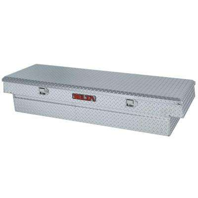 70.125 in. Aluminum Single Lid Full Size Crossover Tool Box in Silver Metallic