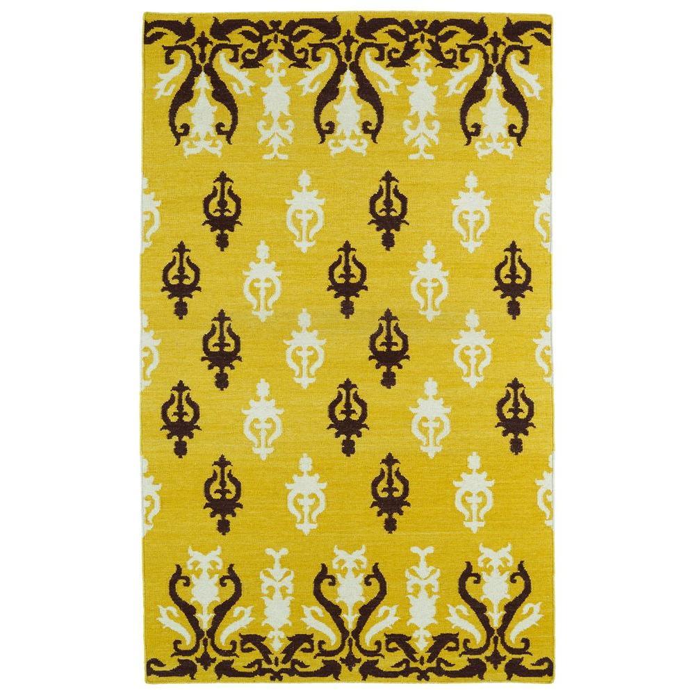 Kaleen Glam Yellow 5 ft. x 8 ft. Area Rug