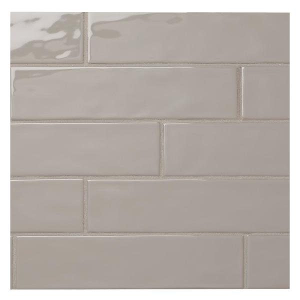 LuxeCraft Gray 3 in. x 12 in. Glazed Ceramic Subway Wall Tile (12 sq. ft. / case)