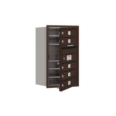 3700 Series 27 in. 7 Door High Unit Bronze Private Front Loading 4C Horizontal Mailbox with 5 MB1 Doors