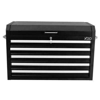 36 in. 5-Drawer Top Chest in Black