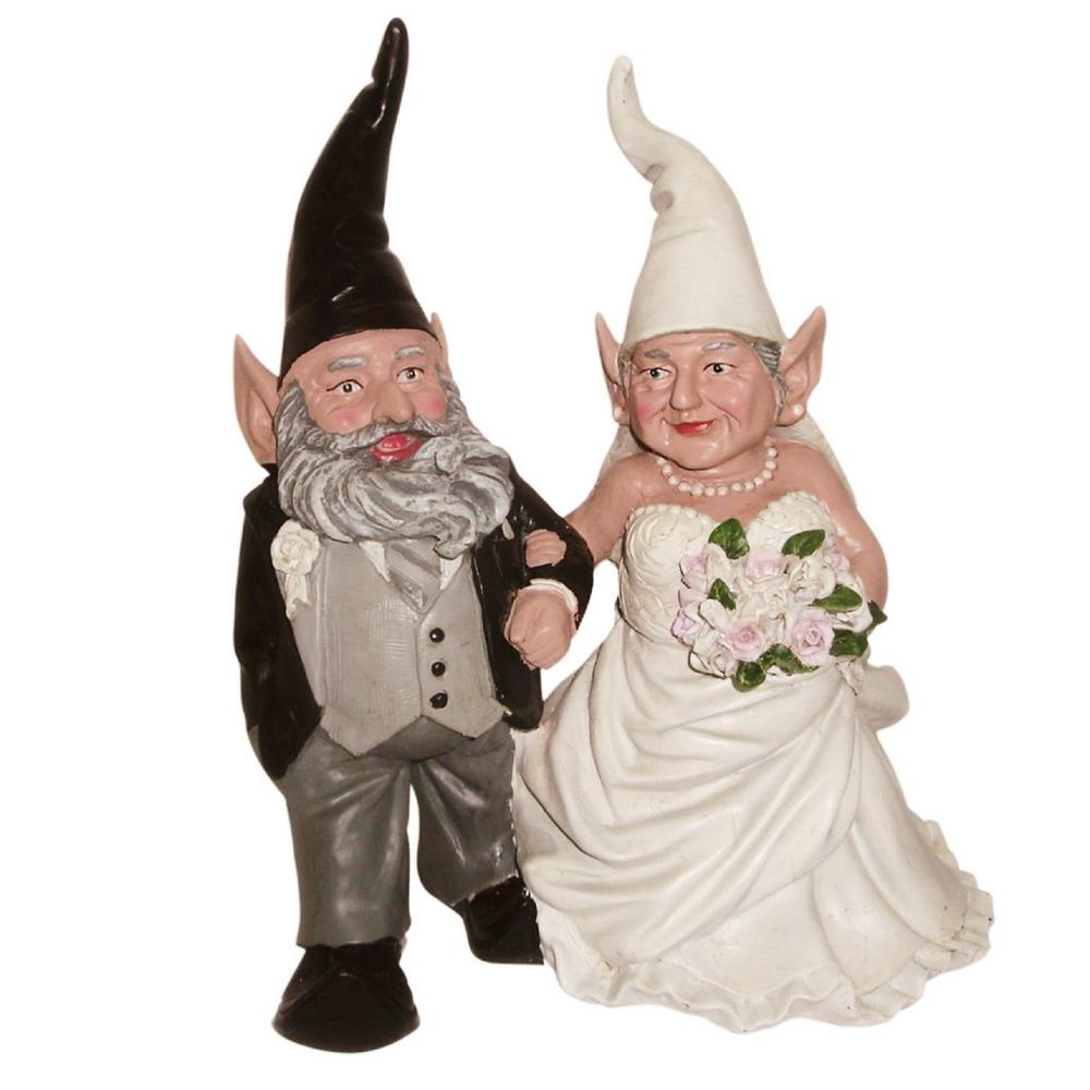 H Bride And Groom Wedding Gnome Married Couple Home And Garden Gnome