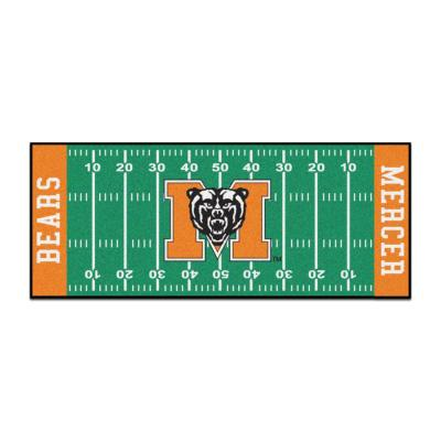 NCAA - Mercer University Green 3 ft. x 6 ft. Indoor Football Field Runner Rug
