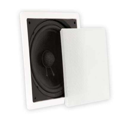 Passive 10 in. Home Theater In-Wall Subwoofer Speaker