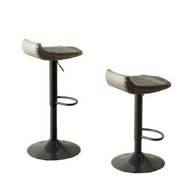 Cannes All-Weather Wicker Motion Patio Bar Stool (2-Pack)