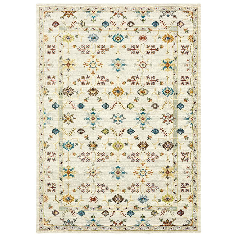 Gala Cream Multi 8 ft. x 10 ft. Indoor Area Rug