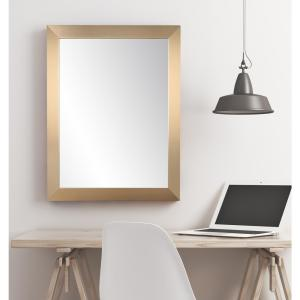 Contemporary Rectangle Champagne Wall Mirror