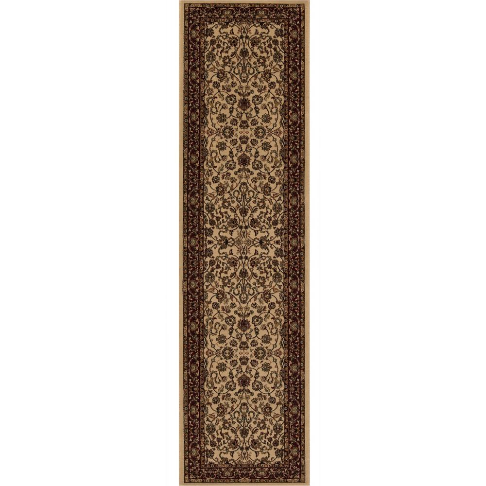 Concord Global Trading Persian Classics Kashan Ivory 2 ft. x 7 ft. 7 in. Runner