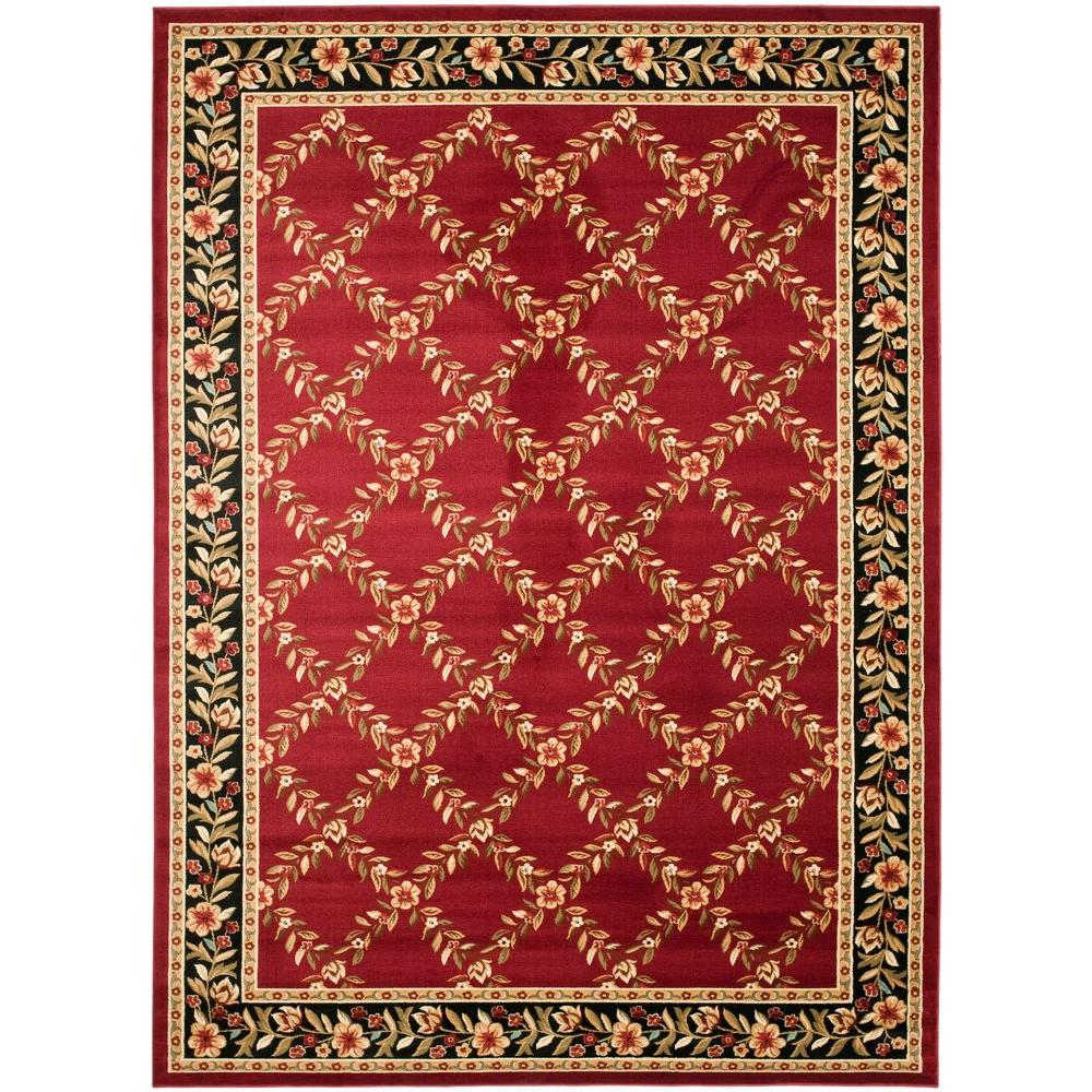 Safavieh Lyndhurst Red/Black 8 ft. x 11 ft. Area Rug
