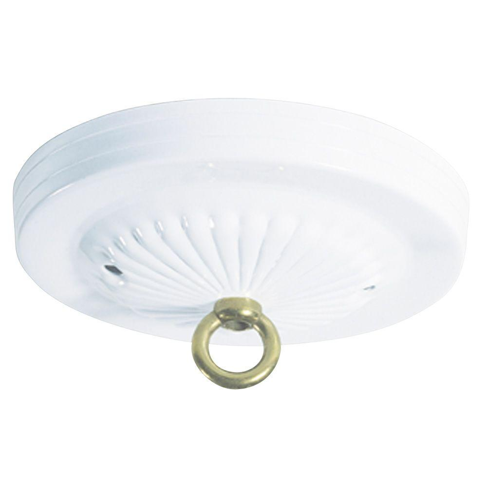 Westinghouse 5 in white traditional canopy kit 7005600 the home depot white traditional canopy kit 7005600 the home depot aloadofball Images