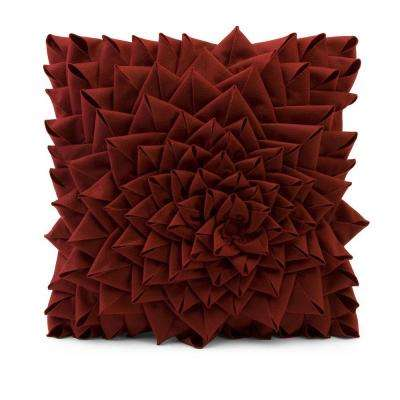 Lenor 16 in. Red Polyester Pillow