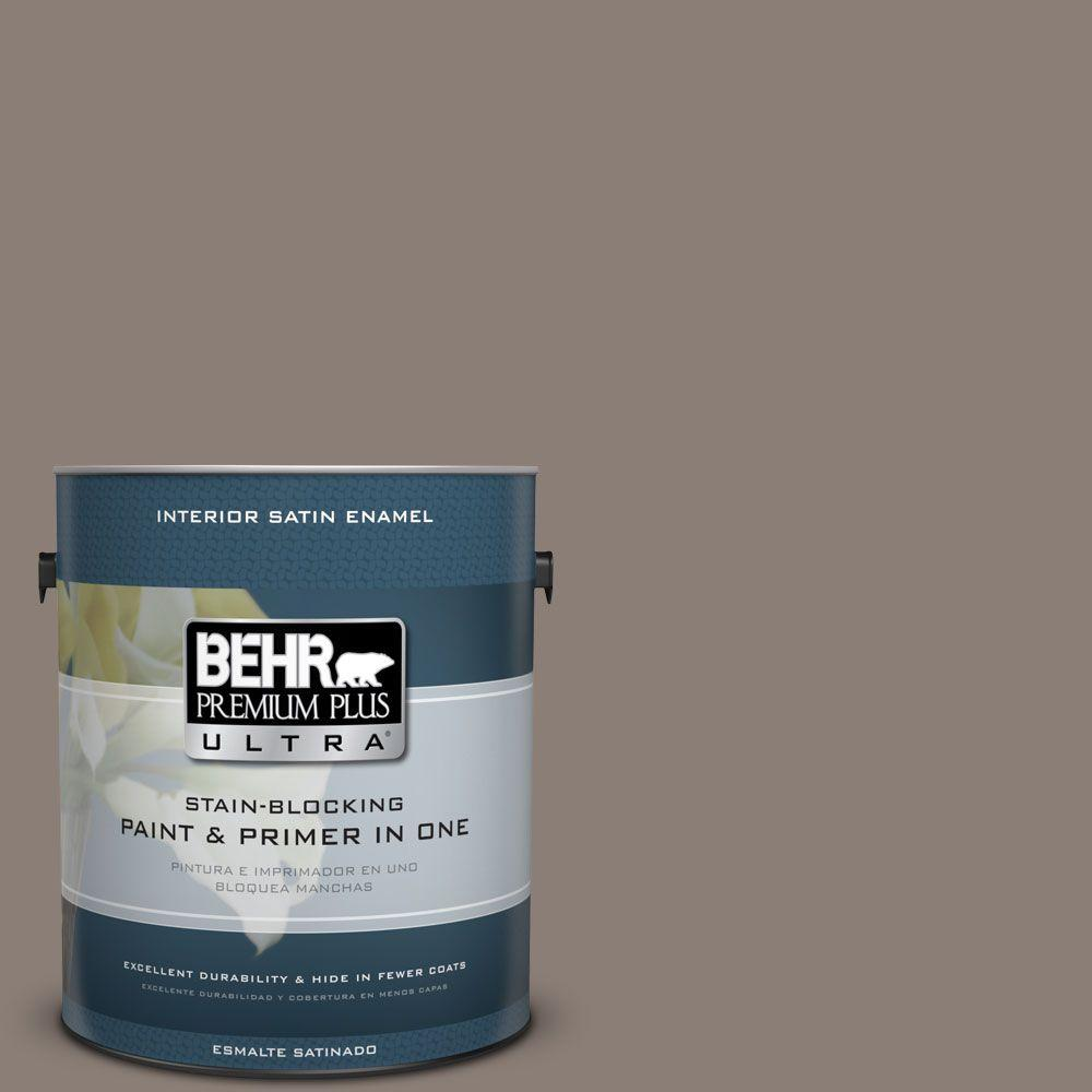 1 gal. #HDC-NT-27B Wild Truffle Satin Enamel Interior Paint