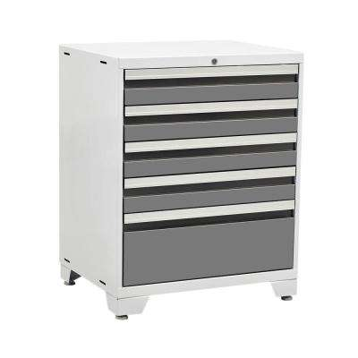Pro 3 Series 37 in. H x 28 in. W x 22 in. D 18-Gauge Welded Steel 5-Drawer Tool Cabinet in Platinum