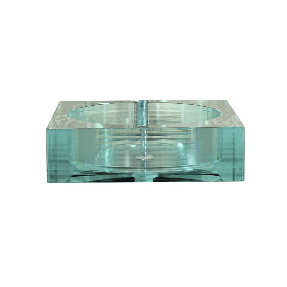 Filament Design Cantrio Crystal Layered Glass Vessel Sink in Clear