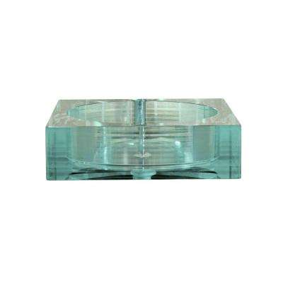 Cantrio Crystal Layered Glass Vessel Sink in Clear