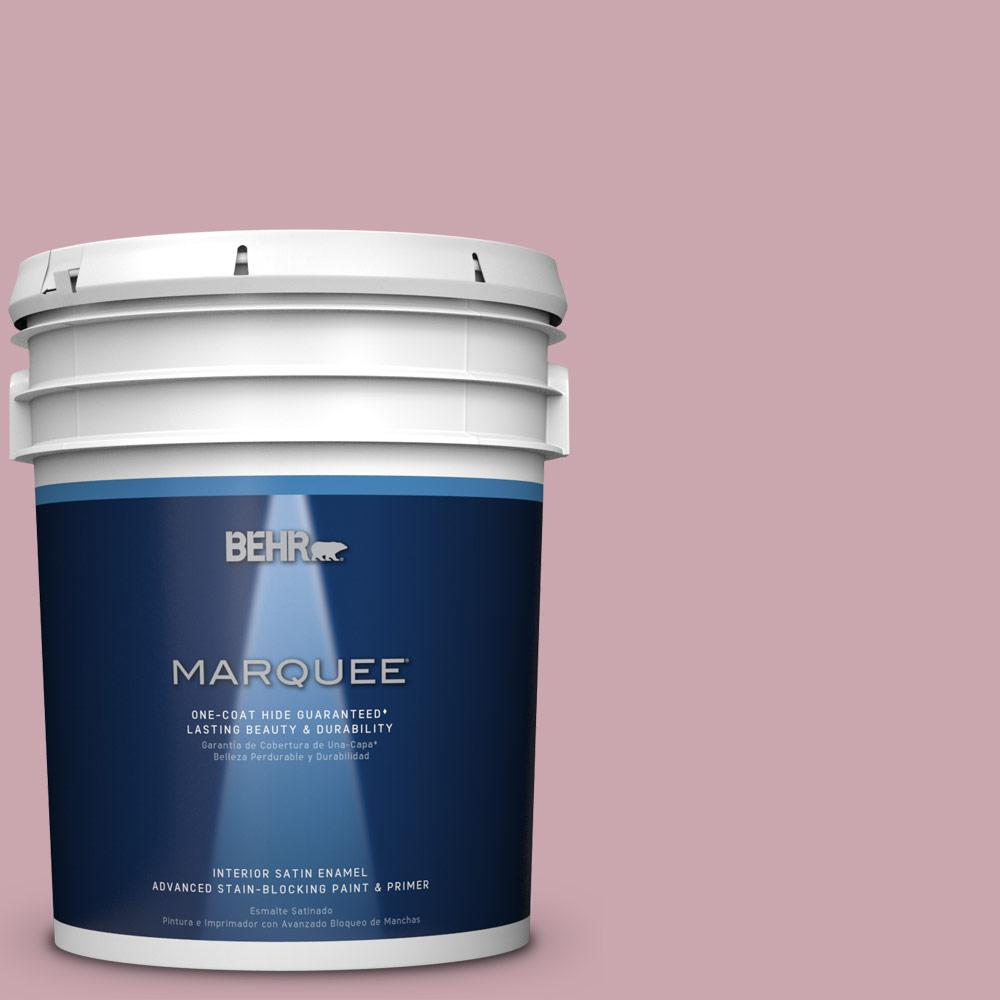 5 gal. #MQ1-4 Dutchess Dawn One-Coat Hide Satin Enamel Interior Paint