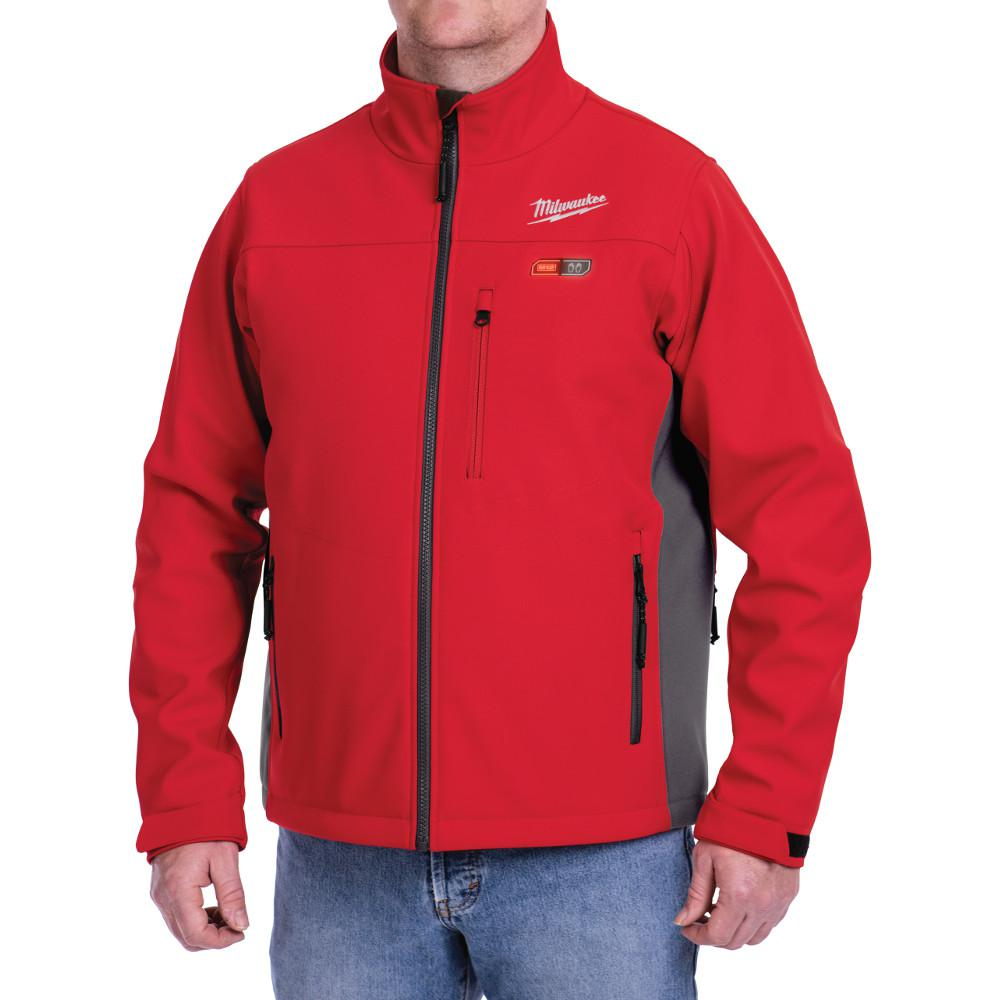 Medium M12 12-Volt Lithium-Ion Cordless Red Heated Jacket Kit