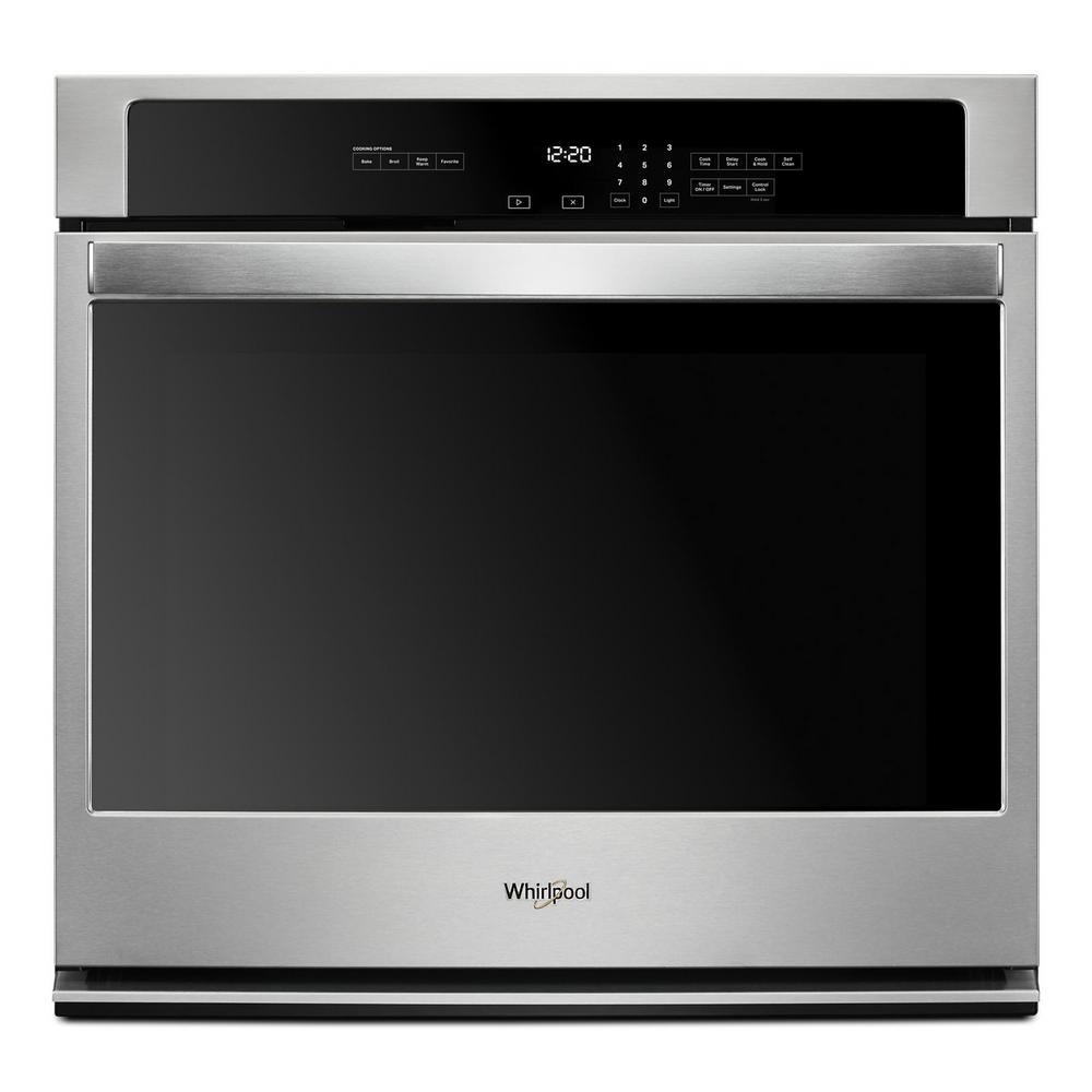 Whirlpool 30 in. Single Electric Thermal Wall Oven with Self-Cleaning in Stainless Steel, Silver