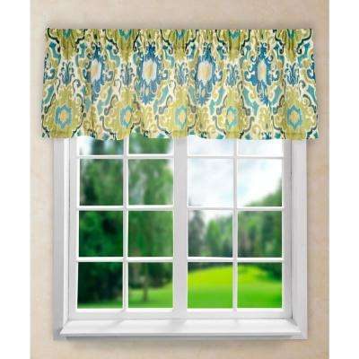 Tuscany 15 in. L Polyester Tailored Valance in Blue
