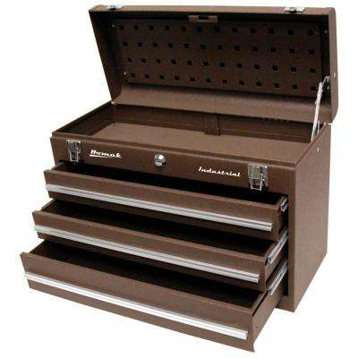 Industrial 20 in. 3-Drawer Friction Toolbox in Brown Wrinkle