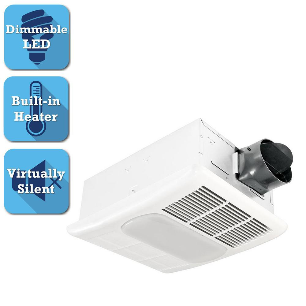 Radiance Series 80 CFM Ceiling Exhaust Bathroom Fan with Dimmable LED