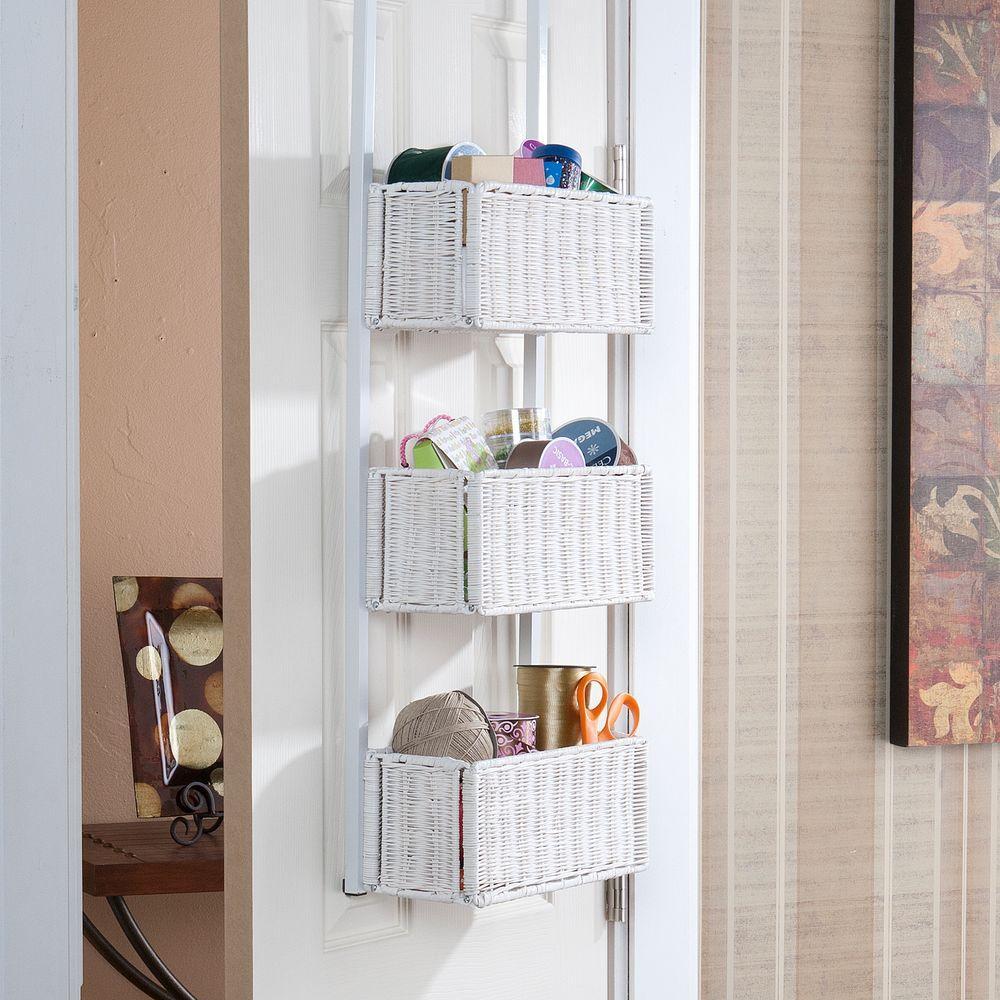 Willard Over-the-Door 3-Tier Basket Storage in White