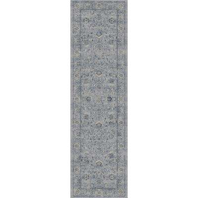 Ancient Garden Silver/Grey 2 ft. x 8 ft. Indoor Runner Rug