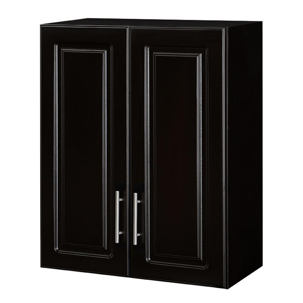 quality design e4bfe 72ad1 Hampton Bay Select 30 in. H x 23.98 in. W x 12 in. D MDF Topper 2-Door Wall  Mounted Cabinet in Espresso