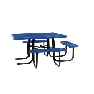 Portable Blue Diamond Commercial ADA Square Picnic Table by