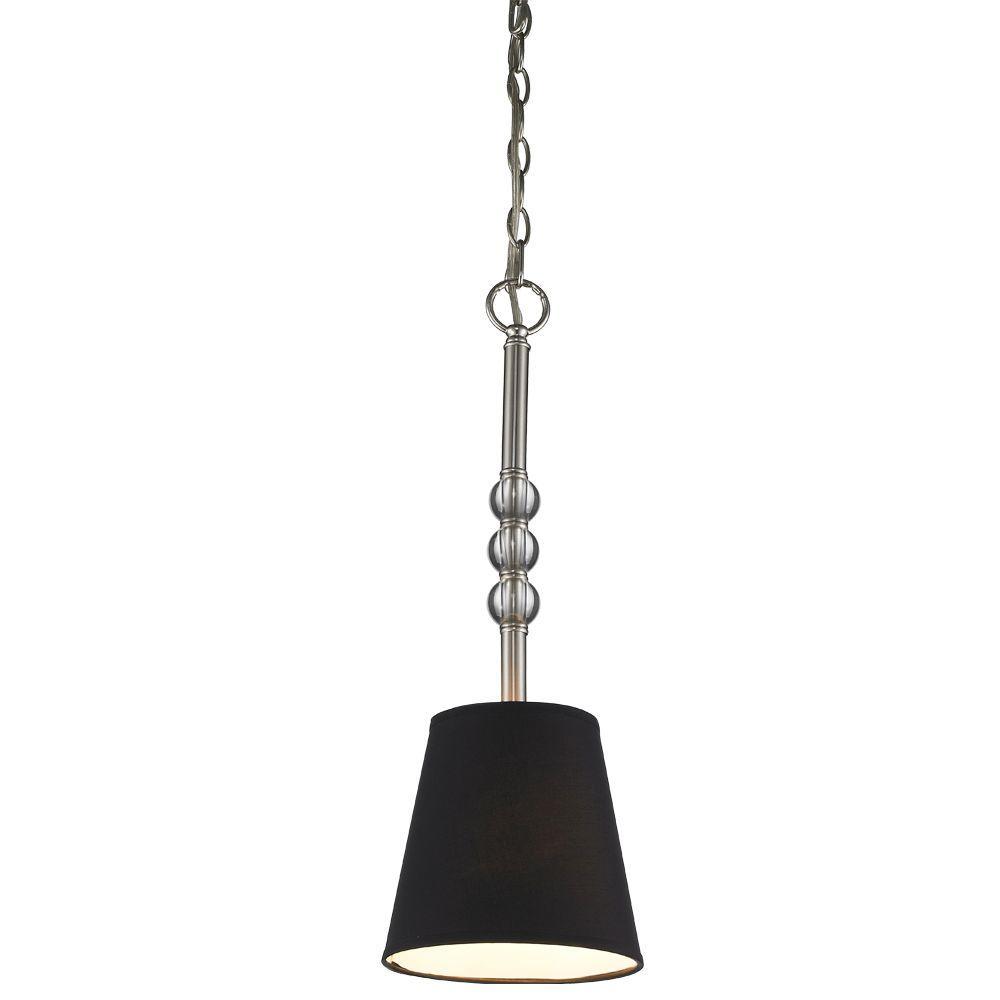 null Kiley Collection 1-Light Pewter Mini Pendant
