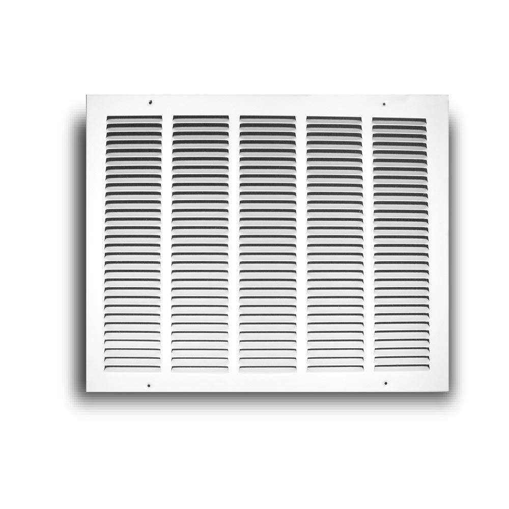 TruAire 8 in. x 4 in. White Return Air Grille