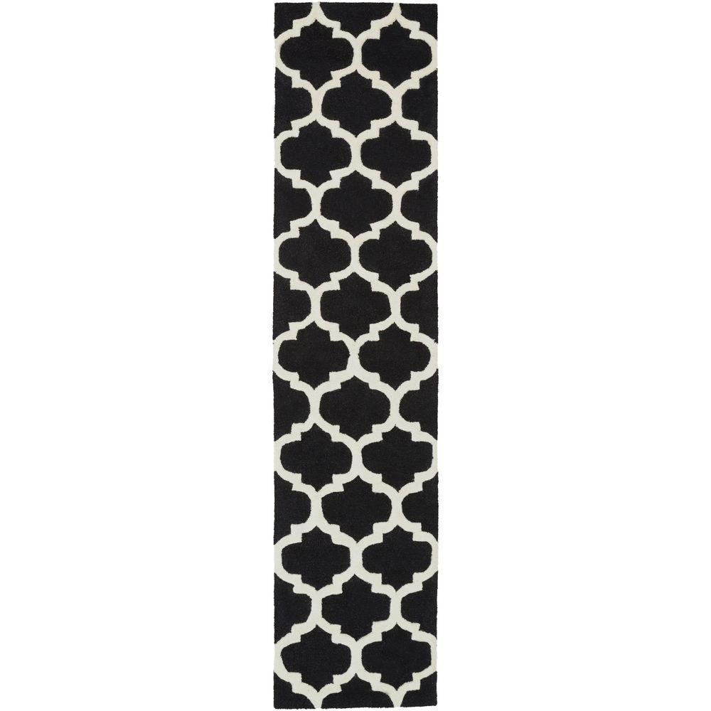 Pollack Stella Black 2 ft. 3 in. x 8 ft. Indoor