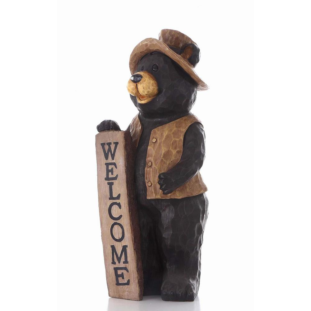 Hi-Line Gift Bear Standing Welcome Sign