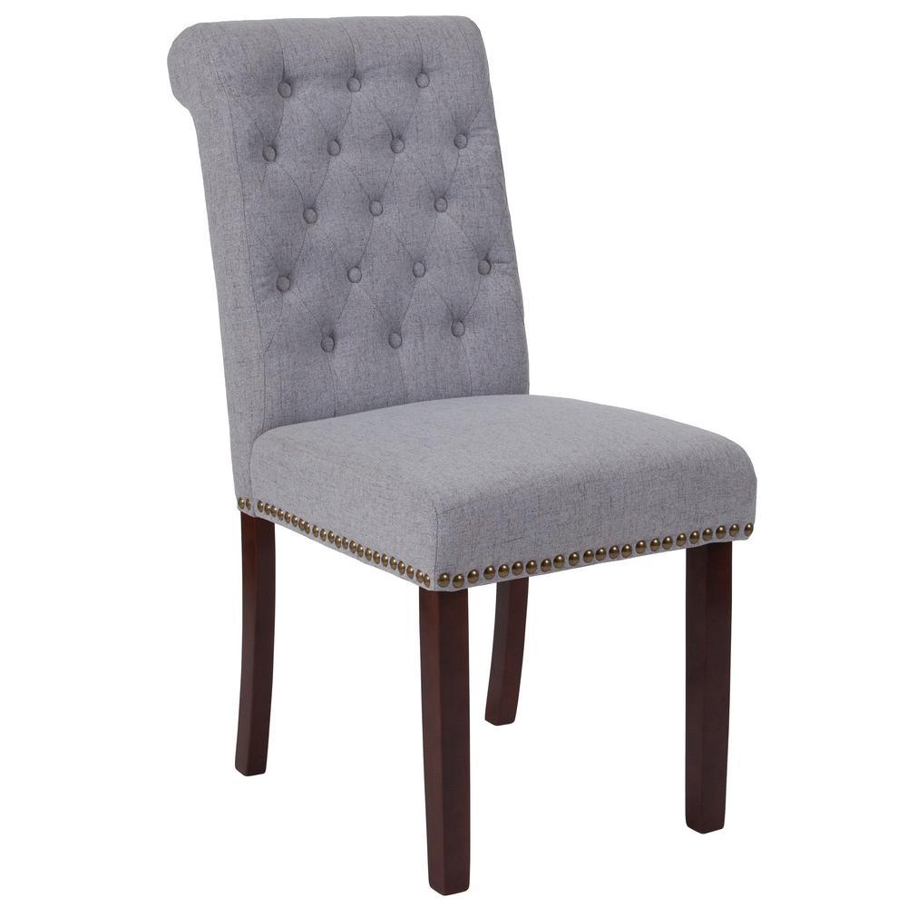 flash furniture hercules light gray fabric parsons chair btpltgyfab the home depot. Black Bedroom Furniture Sets. Home Design Ideas
