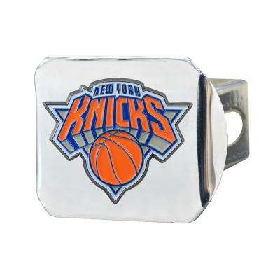 NBA New York Knicks Color Emblem on Chrome Hitch Cover