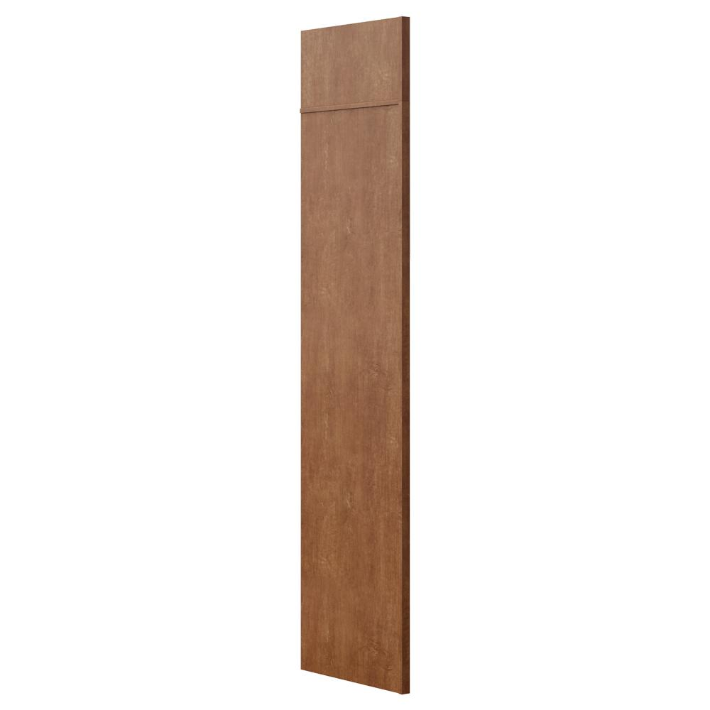 Hampton Bay 1.5x84x24 in. Refrigerator End Panel in Cognac-KAREP-COG ...