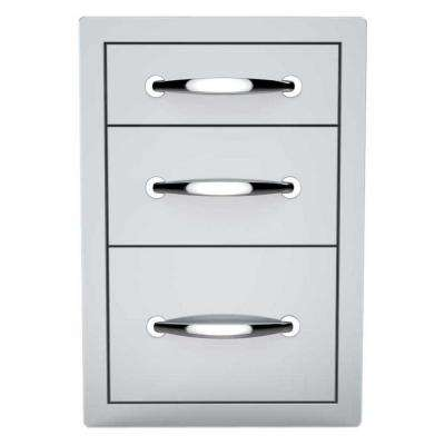 Classic Series 14 in. 304 Stainless Steel Flush Triple Access Drawer