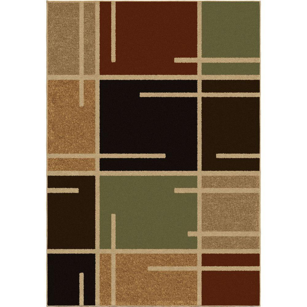 Orian Rugs Petaluma Multi Blocks 5 Ft. 2 In. X 7 Ft. 6