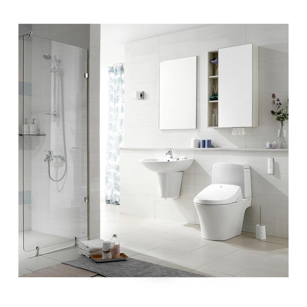 Biobidet Premier Class Electric Bidet Seat For Elongated Toilets In White A8 The Home Depot