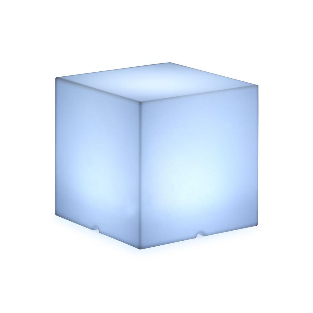 ZUO Lumen 15.7 in. Medium Multicolor Cube Lamp with Stool