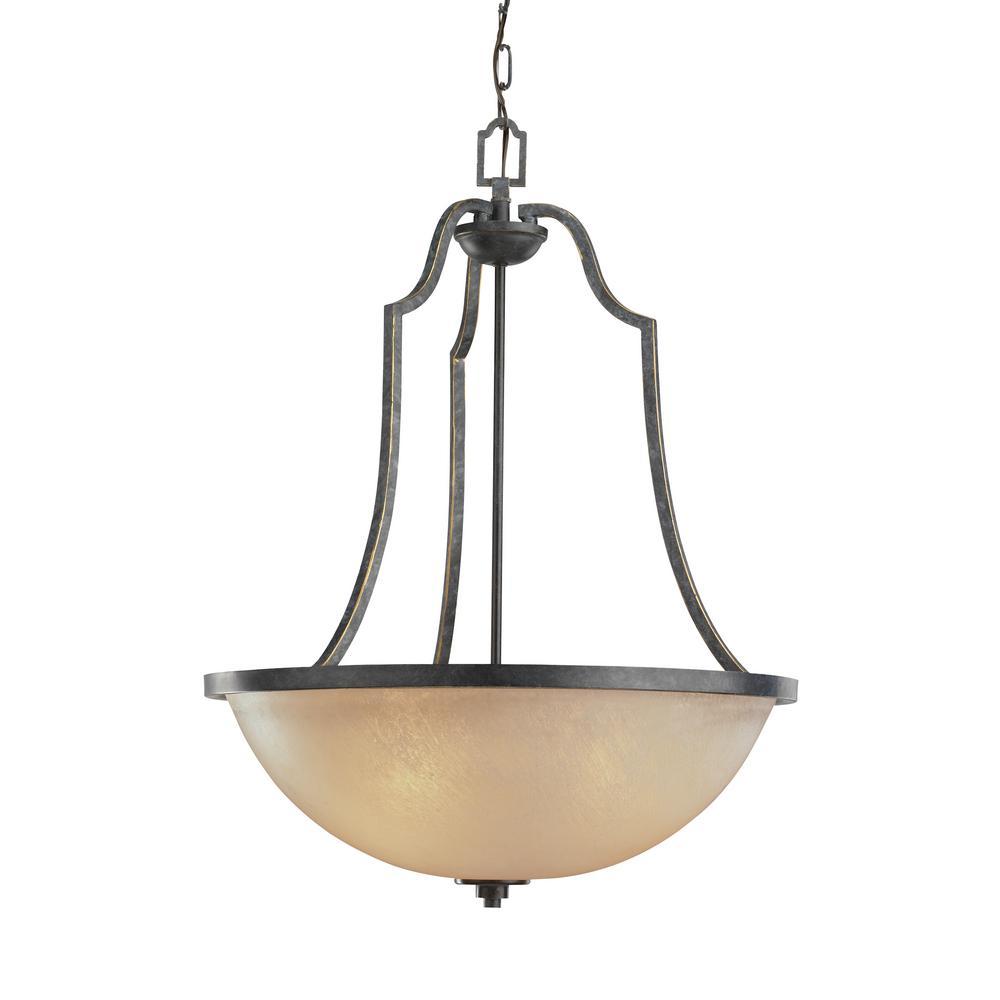Sea Gull Lighting Roslyn 3-Light Flemish Bronze Pendant with LED Bulbs by Sea Gull Lighting