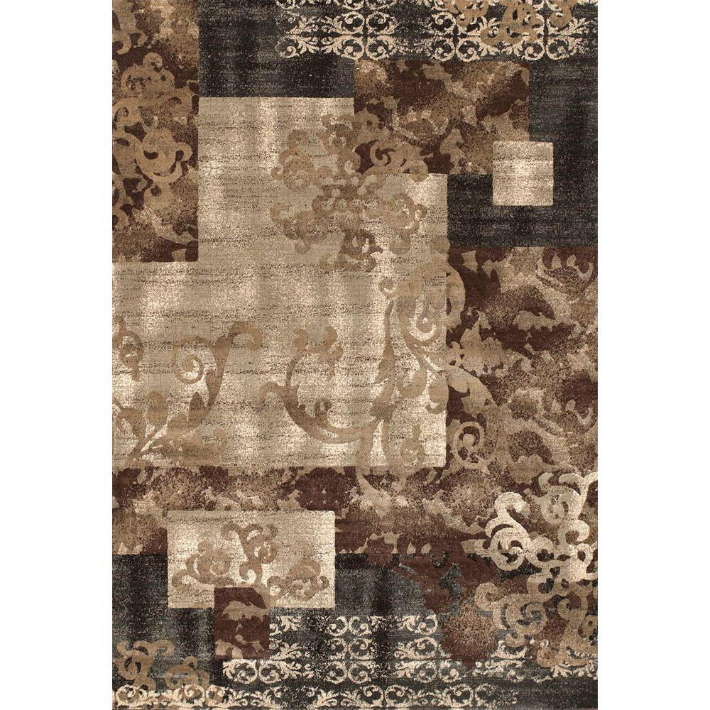 United Weavers Charleston Grey 5 ft. 3 in. x 7 ft. 6 in. Area Rug