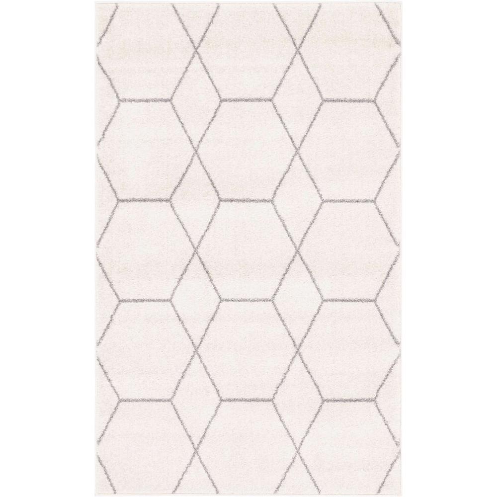 Trellis Frieze Ivory/Gray 10 ft. x 14 ft. Geometric Area Rug