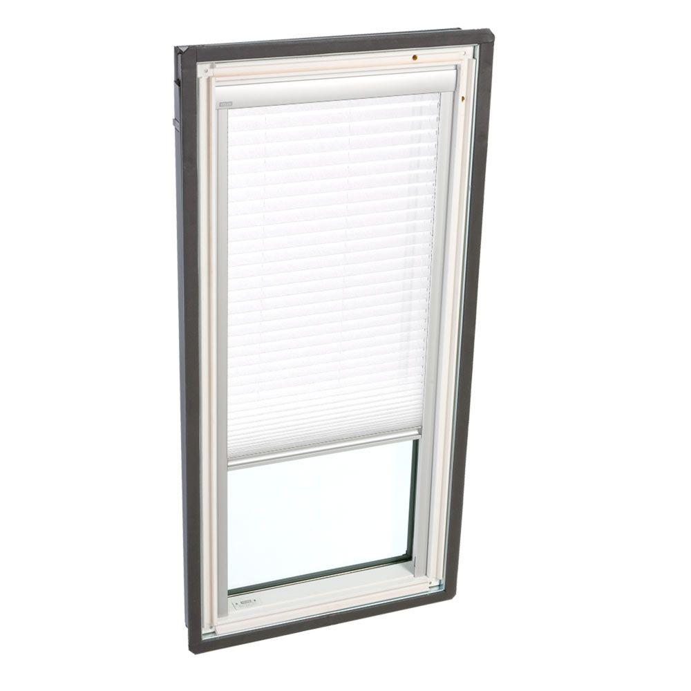 velux manual light filtering white skylight blinds for fs m08 models fhld m08 1016 the home depot. Black Bedroom Furniture Sets. Home Design Ideas