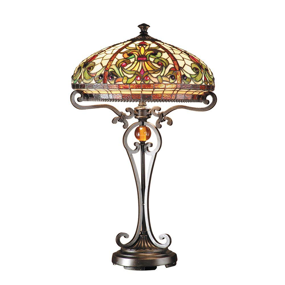 Dale Tiffany 28 in. Boehme Antique Golden Sand Table Lamp
