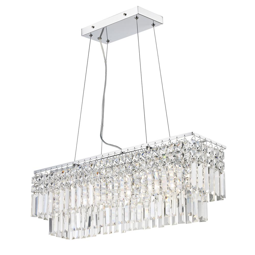 Bel Air Lighting Emby 4 Light Polished Chrome Pendant