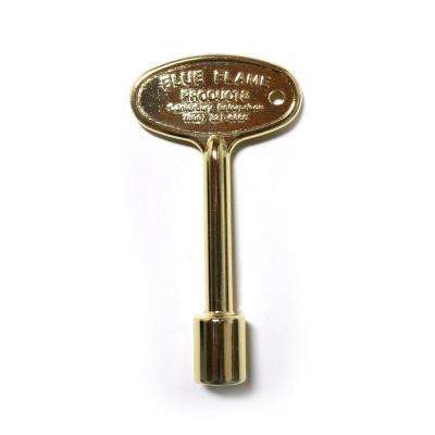 3 in. Universal Gas Valve Key in Polished Brass